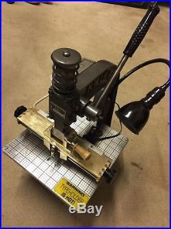 KWIKPRINT Model 55 Hot Stamping and Leather Embossing Machine Kwik Print