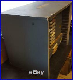 King McKay 12 drawer apt studio letterpress Small Flat Type Cabinet Sort Mc1