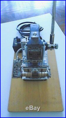 Kingsley 2 Line Hot Foil Stamping Embossing Machine