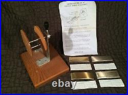 Kingsley Foil Machine Ribbon Attachment & 40 Cawley Plates + 40 Proof Plates Nos