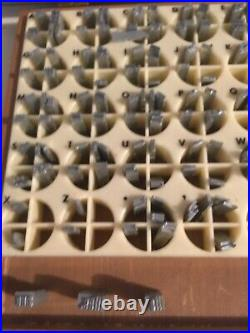 Kingsley Hot Foil Machine Type set in box 18pt Huxley Caps Dorothy Mae Richards