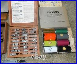 Kingsley Hot Foil Stamping Machine-Foil Rolls-Stamp Type Box Sets-Holders