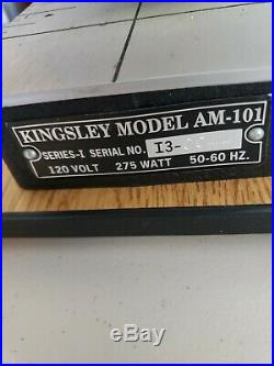 Kingsley Hot Foil Stamping Machine MODEL AM-101 with foot pedal. Excellent Cond