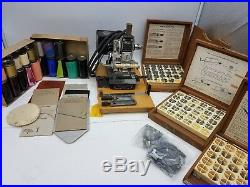 Kingsley M-60 Hobo Hot Foil Emboss Stamp Machine with Type Sets Park Ave Accessory