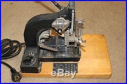 Kingsley Machine Co. M-50 Dual Line Hot Foil Stamping Printing Press Vintage