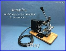 Kingsley Machine (Model M-75 Two Line & Accessories) Hot Foil Stamping Machine