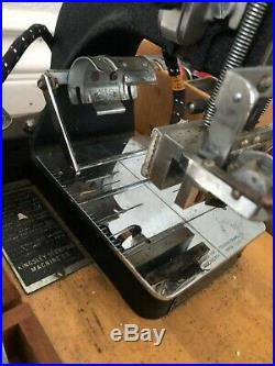 Kingsley Machine SINGLE LINE Hot Foil Stamping Machine USED WORKING 8 LETTER SET