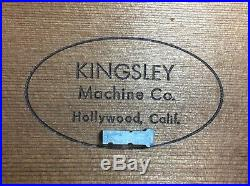 Kingsley Machine Type (24pt. Murray Hill) Hot Foil Stamping Machine
