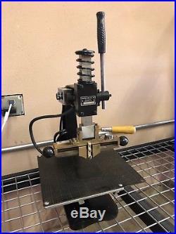 Kwikprint Model 55 Extras Hot Foil Stamping Emboss Machine Kwik Print