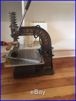 Kwikprint Model 55 Hot Foil stamping machine