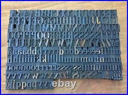 Large Antique VTG TUBBS Wood Letterpress Print Type Block A-Z Letters Comp Set
