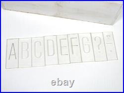 Large Plastic Pantograph Router Manual Engraving Font Set New Hermes Upper Case