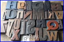Large letterpress ALPHABET 26 letter printing block set, type, wooden font #9