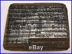 Legend 48 pt Letterpress Type Vintage Printer's Lead Metal Type