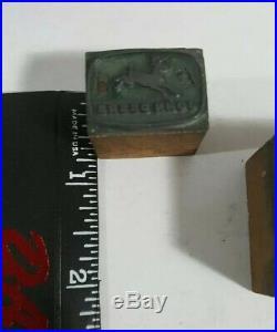 Letter Printing Press Block Press Wood Copper Type John Deere & Farm Equipment