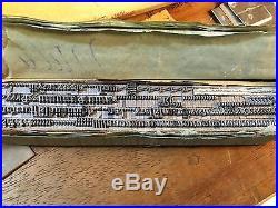 Letterpress 18PT Goudy Cursive type set Caps & L. C. Figs