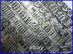 Letterpress Lead Type 36 Pt. Flemish Black ATF # 157 a29