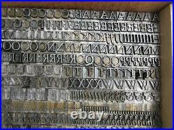 Letterpress Lead Type 36 Pt. Goudy Italic ATF # 179 H17