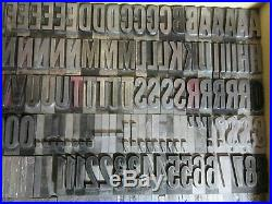 Letterpress Lead Type 72 Pt. Alternate Gothic (Caps, #'s, Punct.) C40