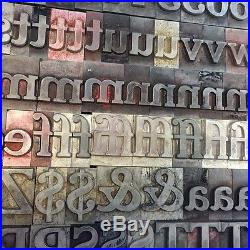 Letterpress Metal type 72pt Cheltenham Bold. Full font. Way cheaper than wood