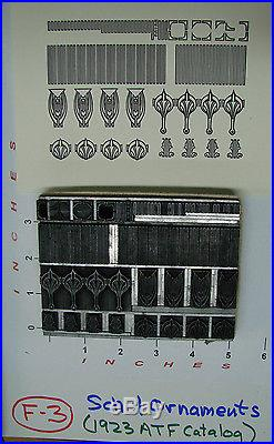 Letterpress Schuil Ornaments (1923 ATF Catalog)