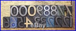 Letterpress WOOD Type 1 5/16 ALPHABET 153pcs GILL SANS SB&Co Alphabet
