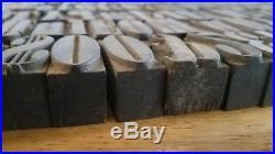 Letterpress Wood Printing Blocks Wooden Type Print Antique Vintage
