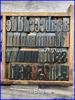 Letterpress Wood Type Lower Case & Numerals Print Blocks Vintage wooden letters