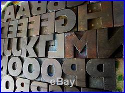 Letterpress set wood letters, printing blocks, wooden