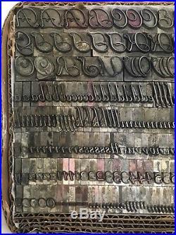 Liberty 48 pt ATF 511 Letterpress Type Vintage Printer's Lead Metal