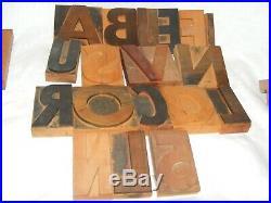 Lot Vintage 18 Printing Letterpress Printers Wooden Block Letters No 5