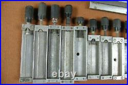 Lot of 23 Hot Foil Type Holders For Kingsley Stamping Machine Used