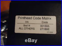 Markem Imaje, Print Head Code Matrix, Part#001b95271b9e, Used