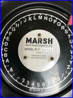 Marsh Model R 1 25mm Font Industrial Rotary Stencil Cutting Unit