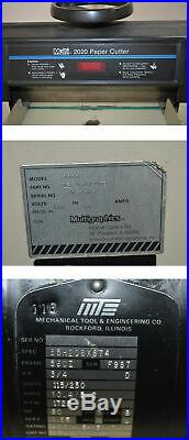Multigraphics Multi 2020 20W x 20D Paper Cutter 36-OAL 120VAC PN13-9-189963
