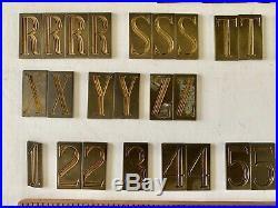 New Hermes 1.25 Engraving Fonts Type 72 Set Condensed Triple Line Roman 101 pcs