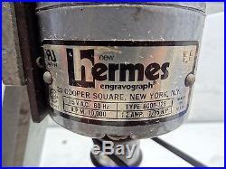 New Hermes Engravograph 8000-128 Bezeler Engraving Machine 115vac 1.2amp 1/15hp