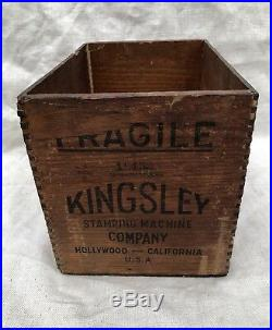 Original Kingsley 3 Inch Model Stamping Machine Railway Express Wood Box Crate