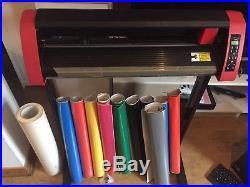 PCUT VINYL CUTTER / CUTTING PLOTTER CTO630E With Lots If Vinyl