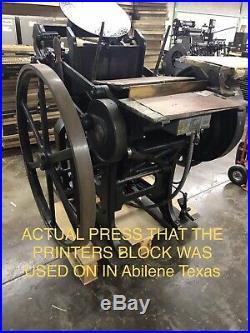 PETROLEUM EQUIPMENT Antique Letterpress Printing Printer Block Wood Copper