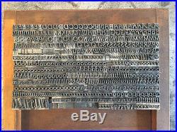 Parsons Italic 18/36pt Barnhart Brothers & Spindler Letterpress Vandercook Press