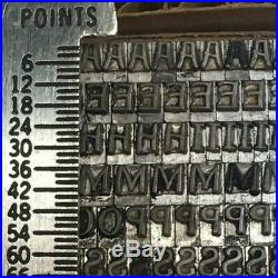 Pen Print 12 pt Letterpress Type Printer's Metal Lead Printing Sorts Rare