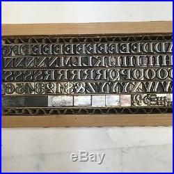 Pierre Shaded 18 pt Letterpress Type Vintage Metal Printing Sorts Font Fonts