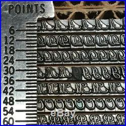 Piranesi Italic 8 pt Letterpress Type Vintage Metal Lead Printing Sorts Font