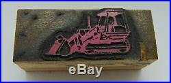 Printing Letterpress Printers Block Tractor Heavy Equipment
