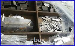 Printing Letterpress Printers Blocks, 1500pt Metal Alphabet Antique + 3 Drawers