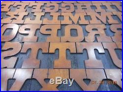 Printing Letterpress Wood Type, Solid Wood Alphabet 18 Line Unmarked, Antique