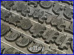 Priory Black Text 48 pt Letterpress Type Vintage Metal Printing Sorts Font