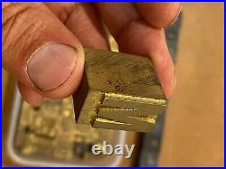 RARE Bookbinding Brass Type set 0.91 embossing gold finishing bookbinder 1