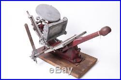Rare Small Adana London Model 2H/S Printing Press Machine Letterpress